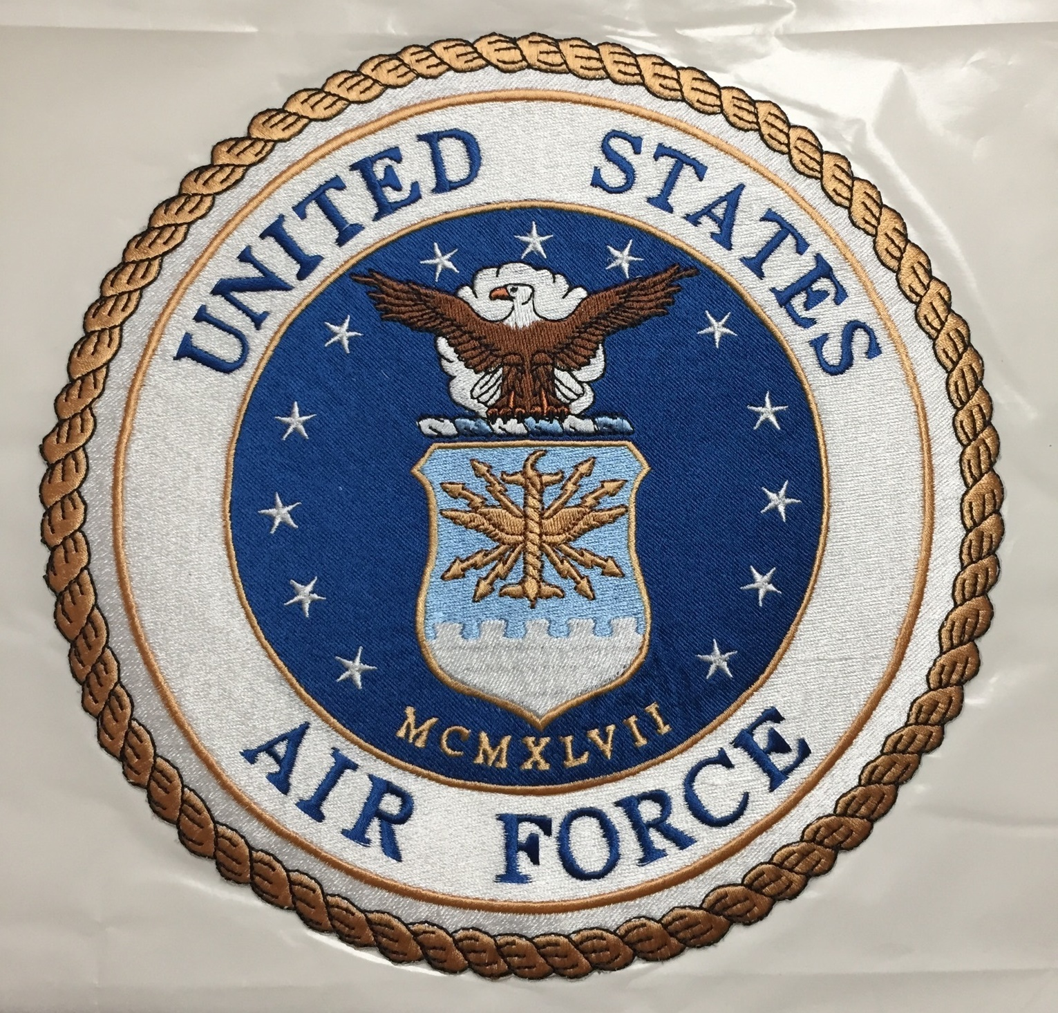 Applique Air Force Emblem w/Adhesive