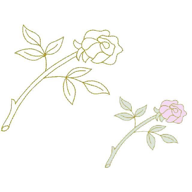 Single Rose (Trapunto)