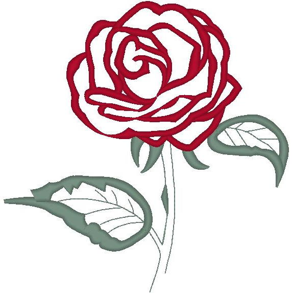 Cindy's Rose #2 w/Stem