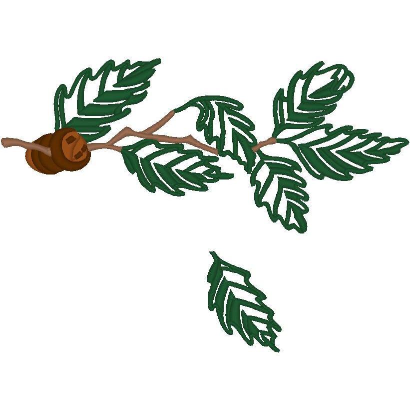 Oak Leaves w/Acorns