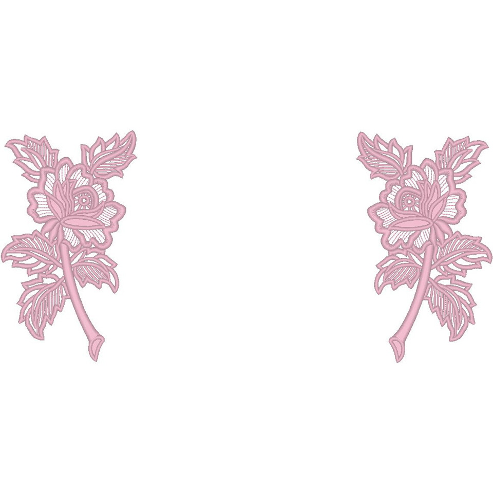Double Lace 51'' Rose