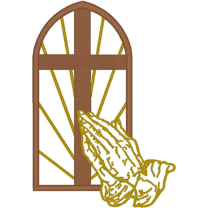 Window/Cross/Pray. Hands (PM)