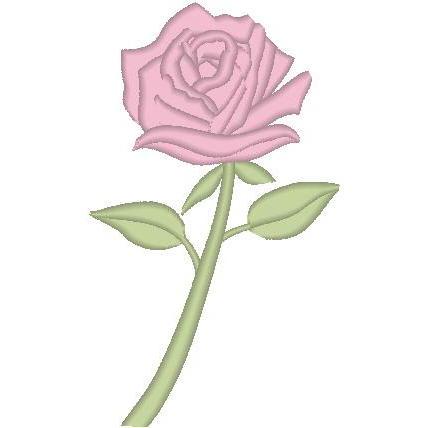 B-Single Rose Pillow/O'lay
