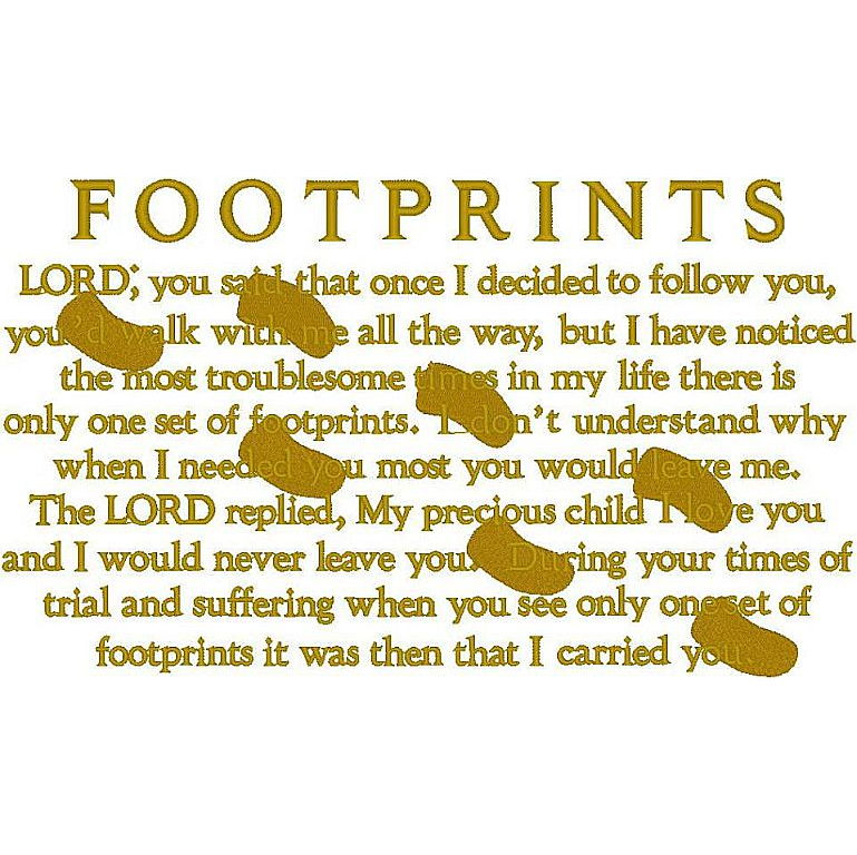 Footprints/Prayer (PM)