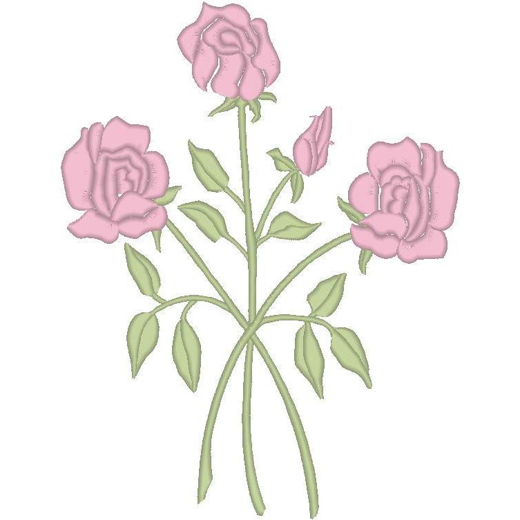 3-Satin Roses