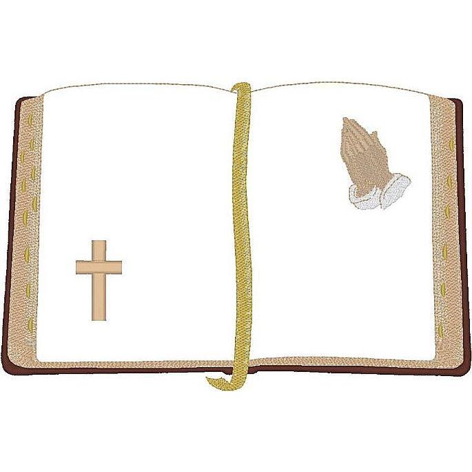 Bible w/Praying Hands/Cross