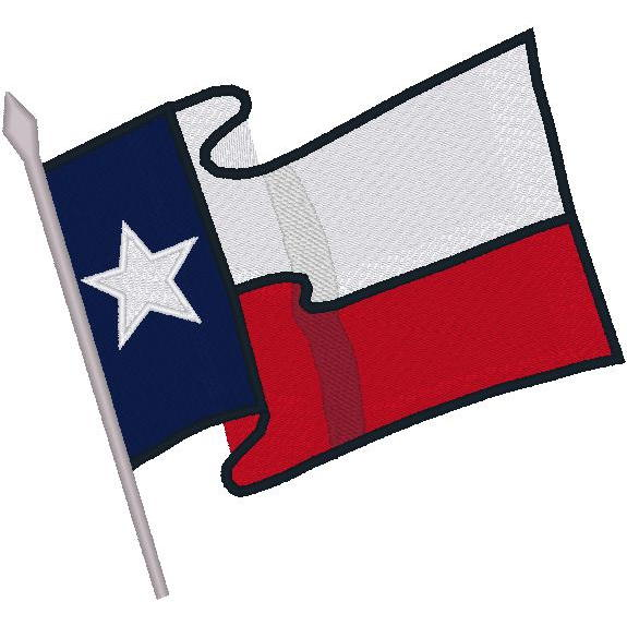 Blowing Texas Flag