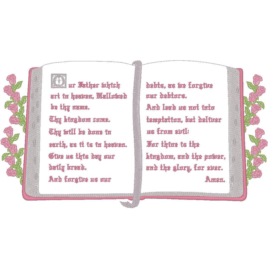 Bible w/Lords Prayer - Roses