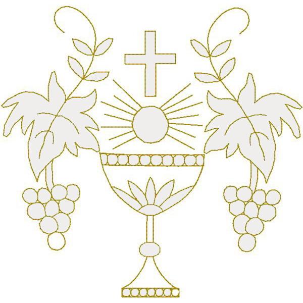 Chalice w/Grape Vine, Trapunto