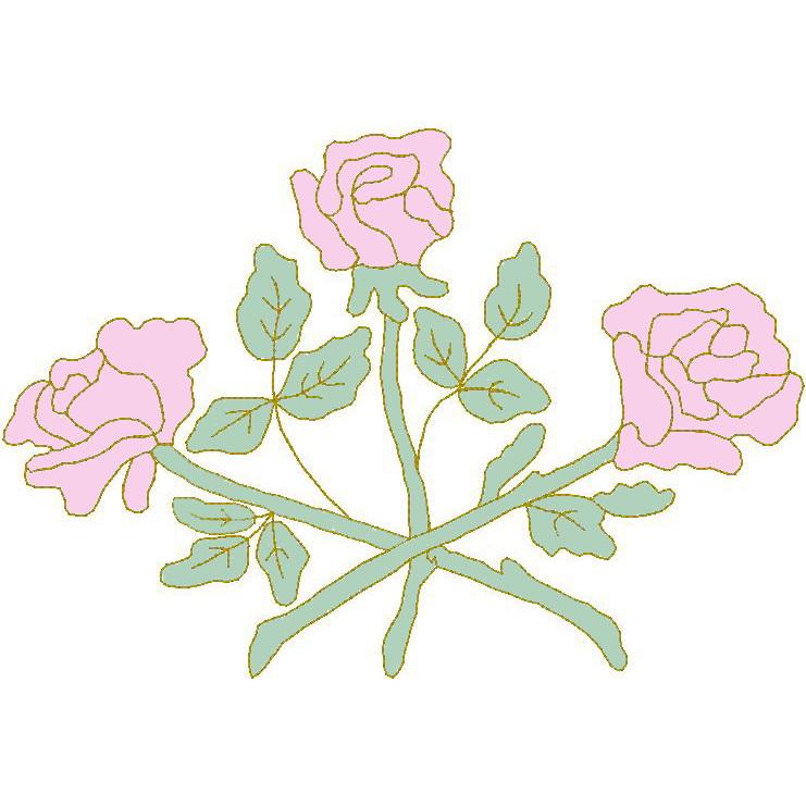 3 Rose - Trapunto