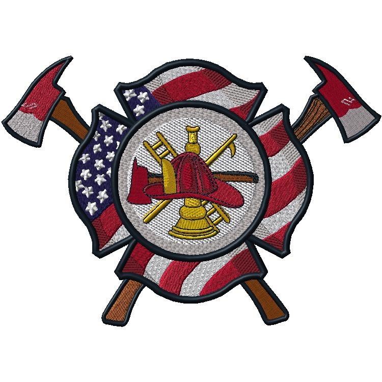 Fireman /Flag logo w/Axes
