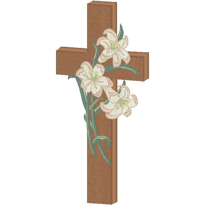 Cross with Lilies  (PM)