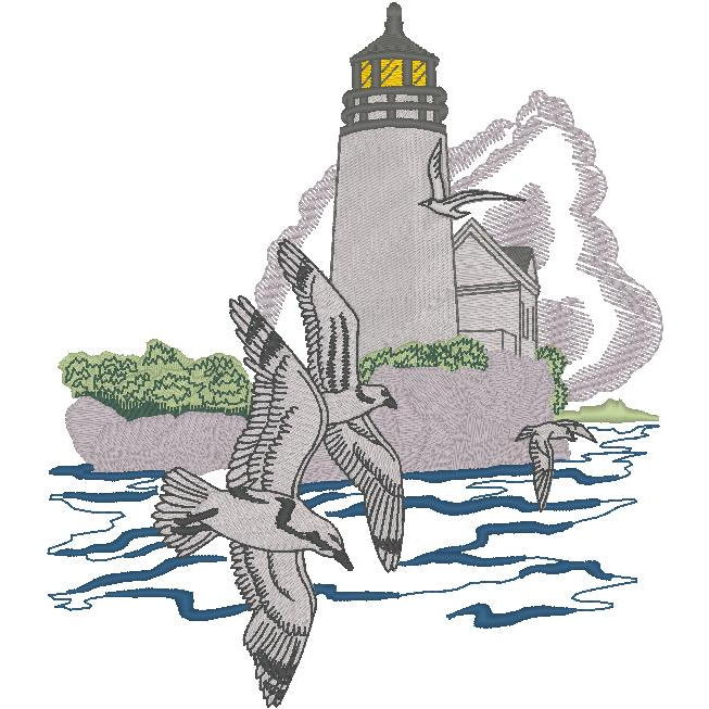 Lighthouse w/Seagulls (PM)