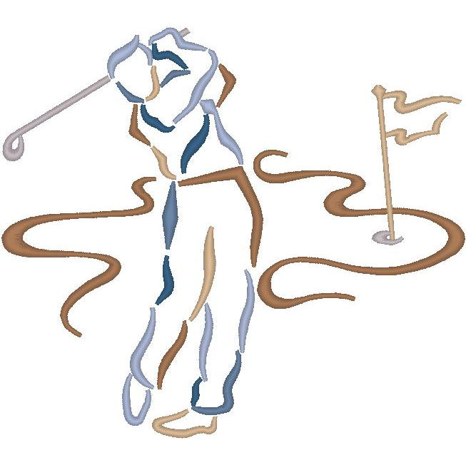 Abstract Golfer