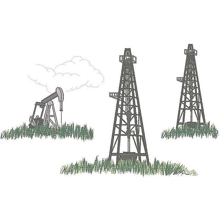 Oil Field Scene