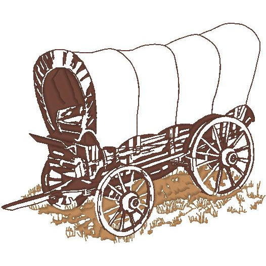 Covered Wagon Outline