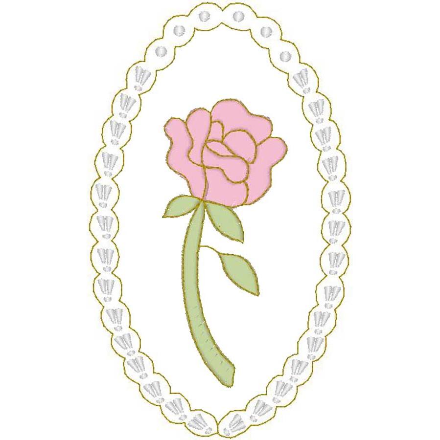Cameo Rose w/Pearls (Stitch)