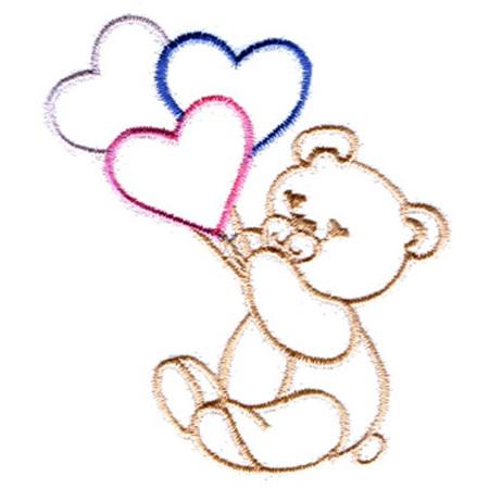 Bear w/Hearts - Tiedemann