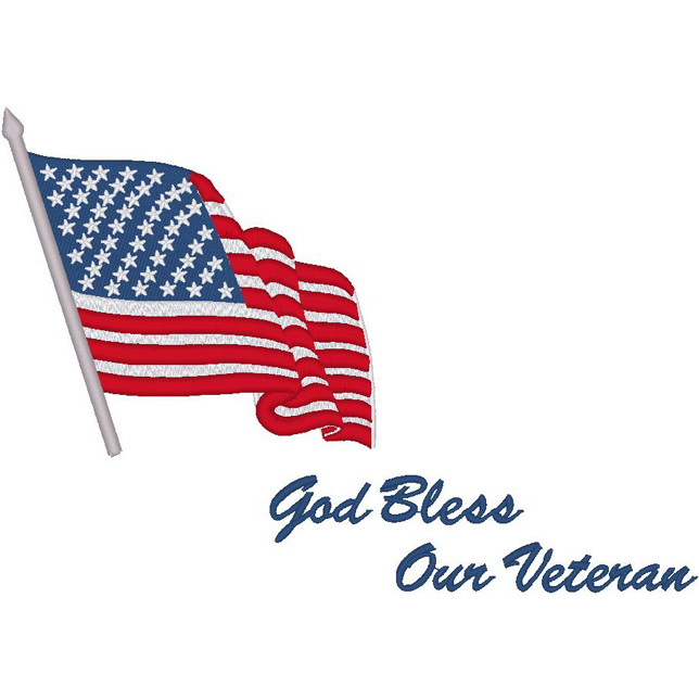 Flag / God Bless Our Veteran