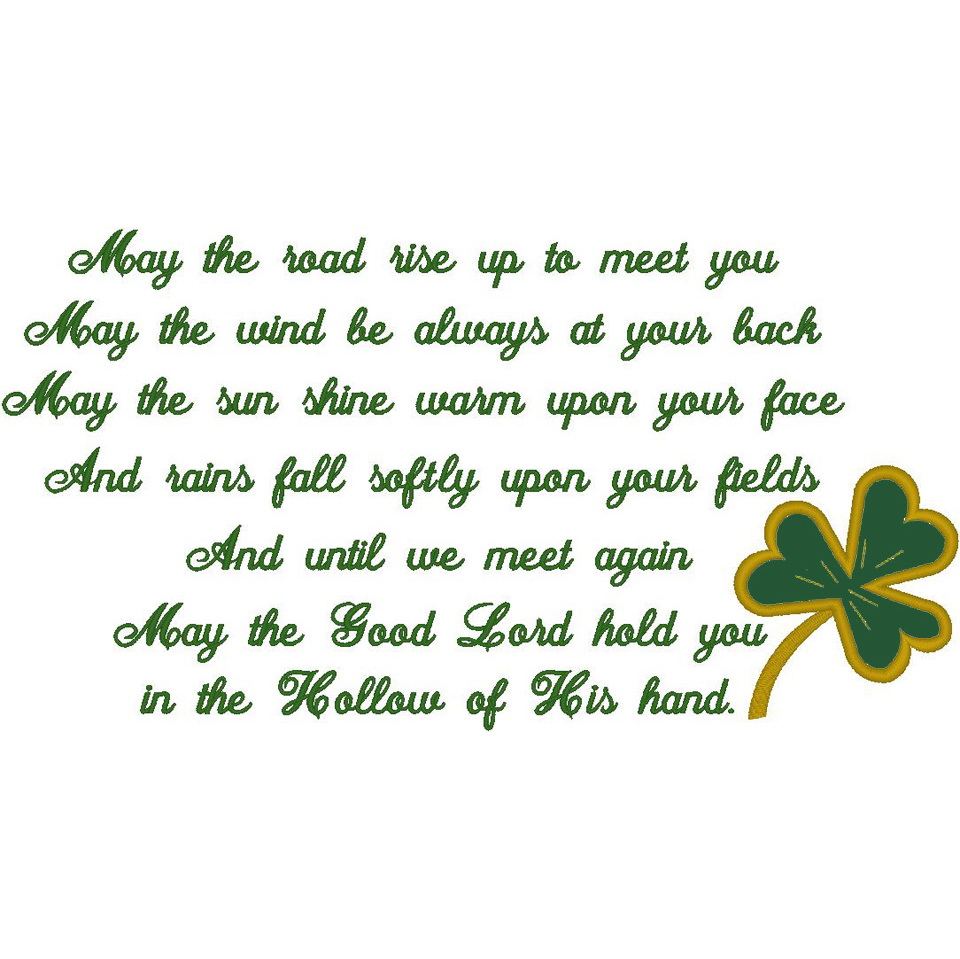 #85:Irish Blessing/Shamrock