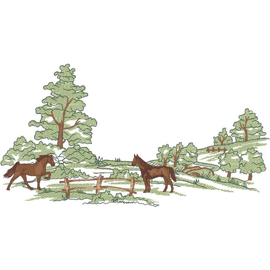 Horses in Pasture (PM)