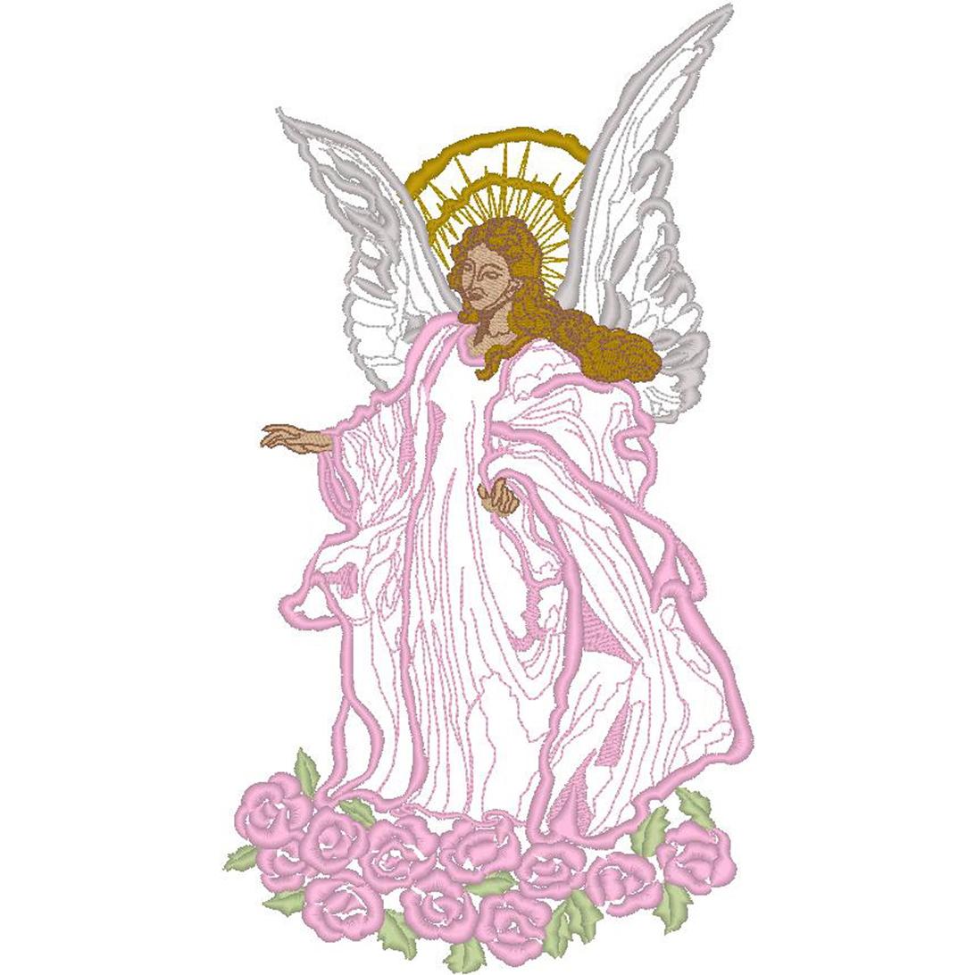Angel w/Roses