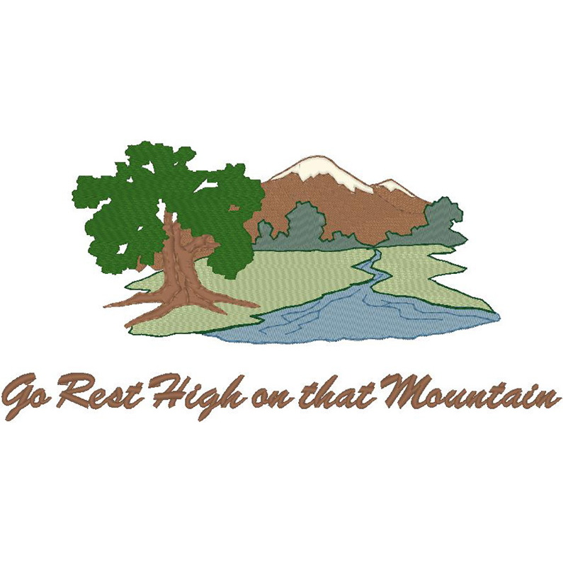 #713 Mountain Scene/Go Rest...