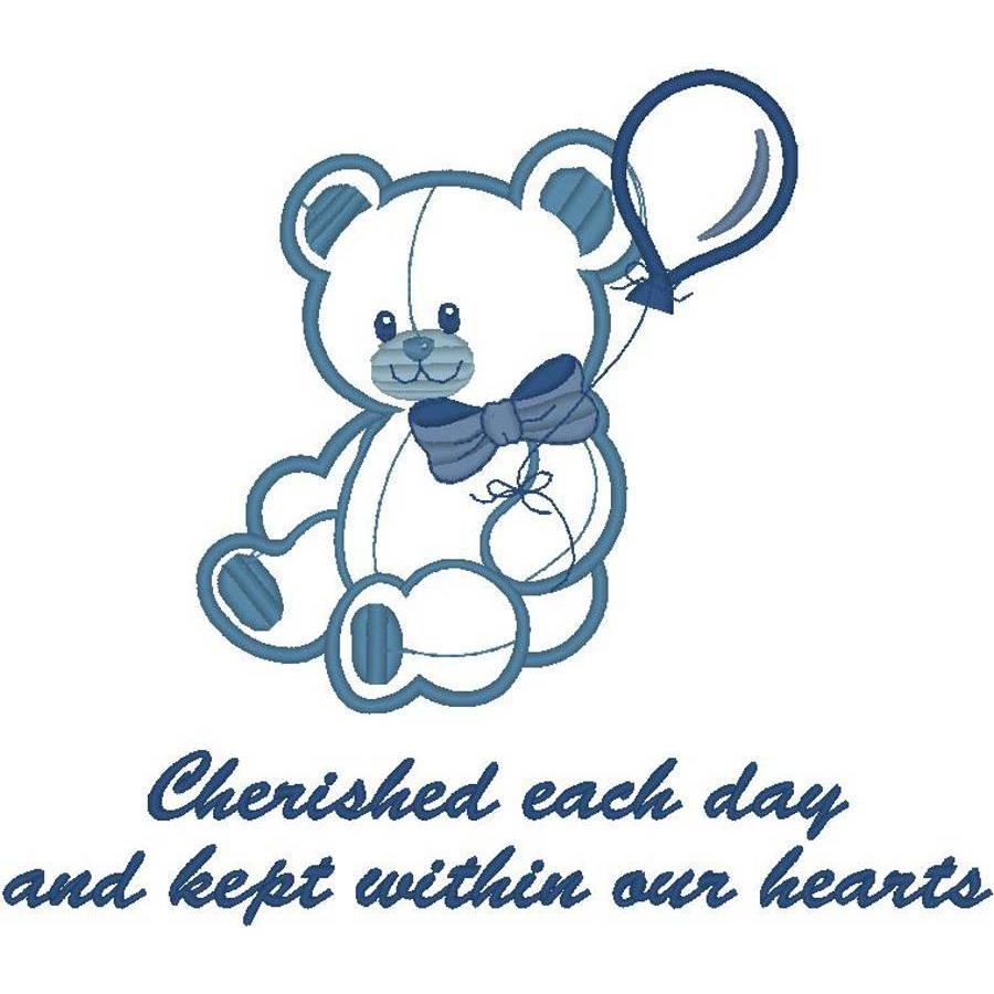 Applique Teddy Bear w/Poem