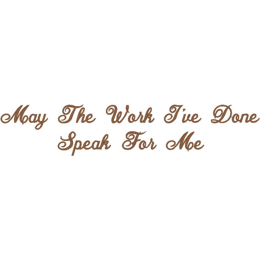May the Work I've Done - Diane