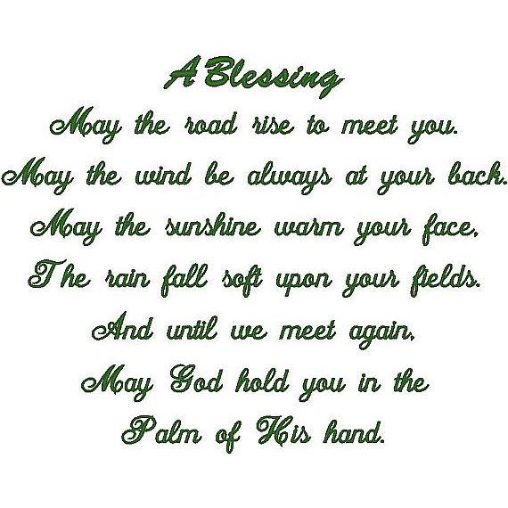 Irish Prayer w/A Blessing