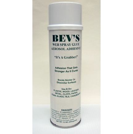 Bev's Spray Glue, 12oz. can