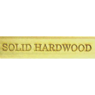 'Solid Hardwood' Wooden Label - CO