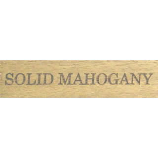 'Solid Mahogany' Wooden Label