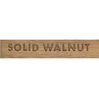 'Solid Walnut' Wooden Label