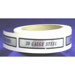20 Gauge Steel I.D. Label