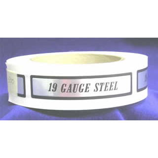 19 Gauge Steel I.D. Label