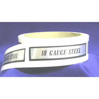 18 Gauge Steel I.D. Label