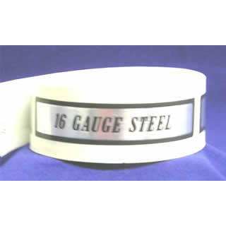 16 Gauge Steel I.D. Label