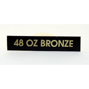 48 oz Bronze I.D. Plate
