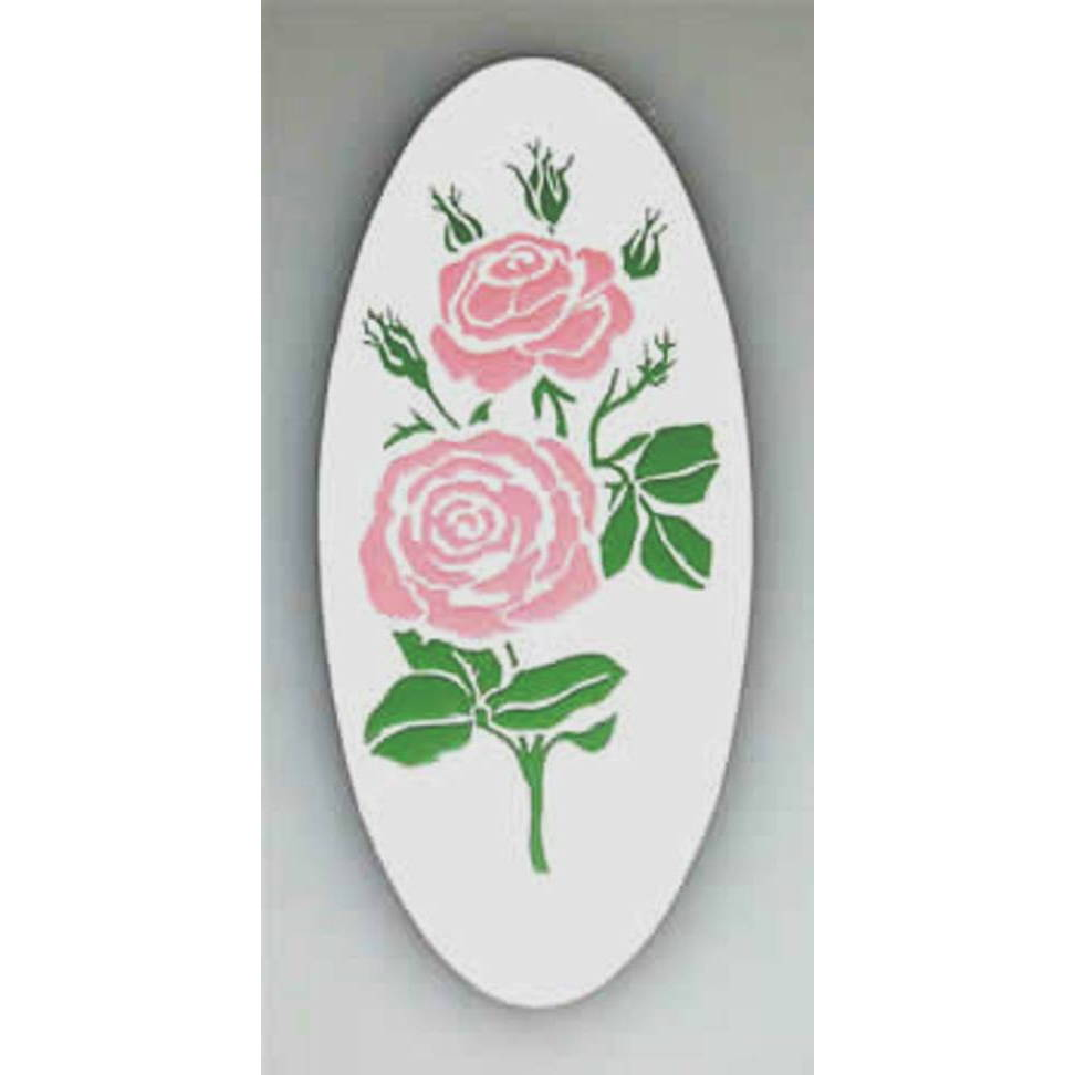 A-18 Cameo Rose Decal, 3-Color