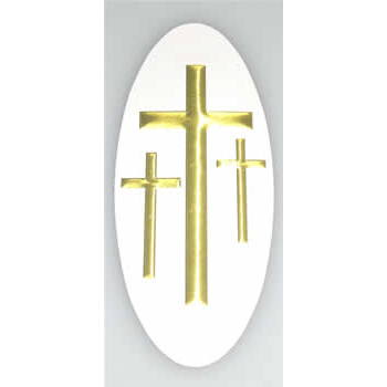 A-18 3-Cross Decal, White/Gold