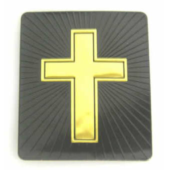 #4751 Black/Gold Cross Decal