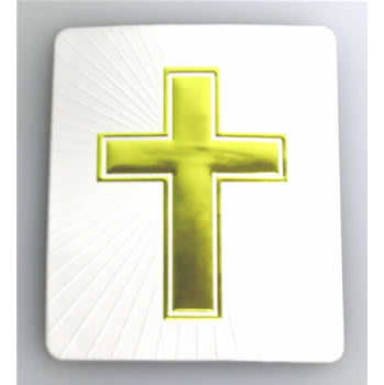 #4751 White/Gold Cross Decal