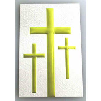 3-Cross Decal 31 Corner, White/Gold