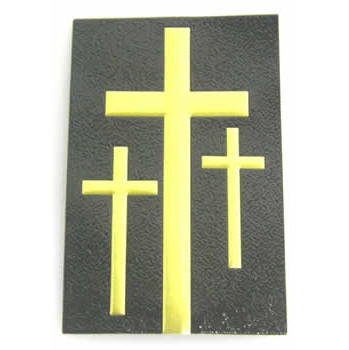 3-Cross Decal 31 Corner, Blk/Gld