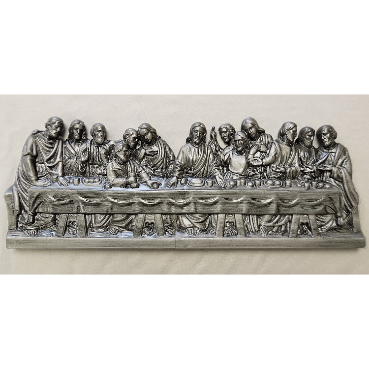 Last Supper Plaque - Silver