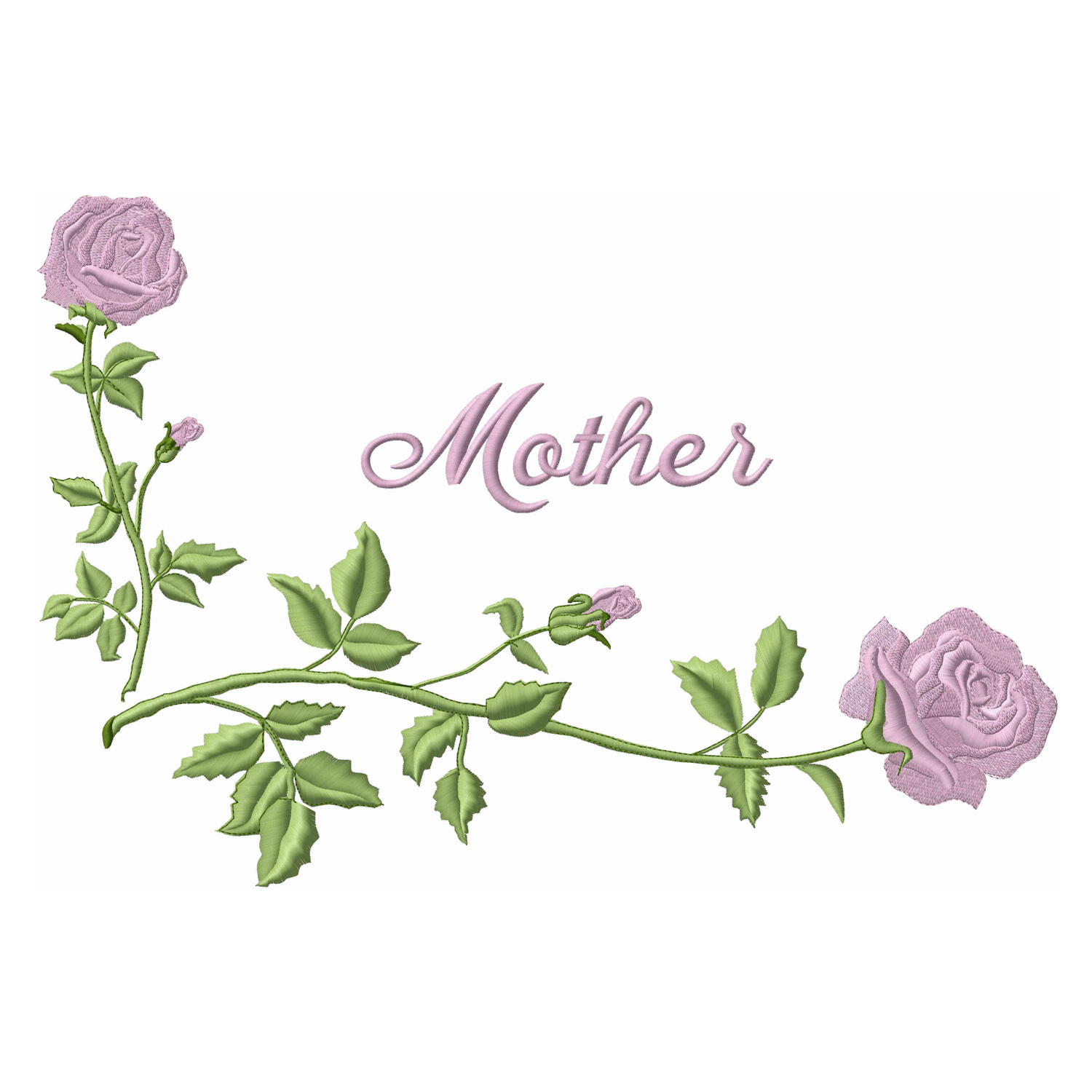 Corner Roses / Mother-Pink (Applique)