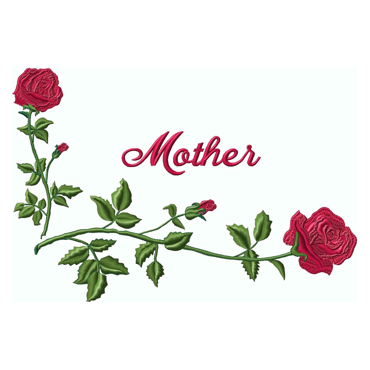 Corner Roses / Mother-Red  (Applique)