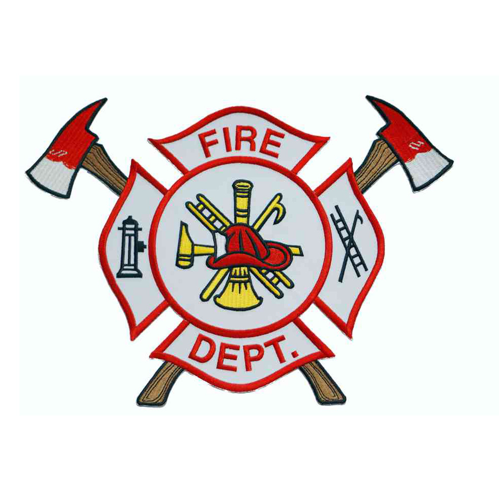 Applique Fire Dept. Logo w/Adhesive