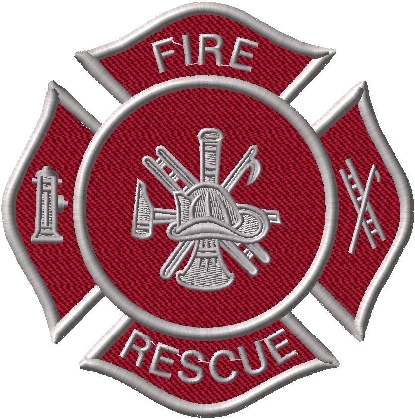 Fire Rescue Logo - Applique